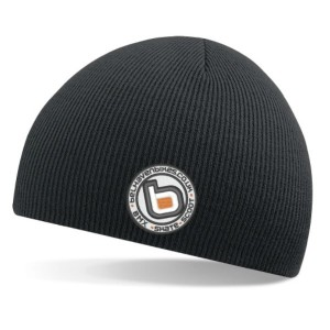 bb bmx skate scoot black beanie white logo