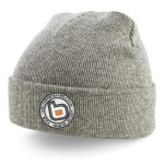 bb bmx skate scoot grey turn up beanie white logo