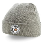 bb bmx skate scoot grey turn up beanie wo logo